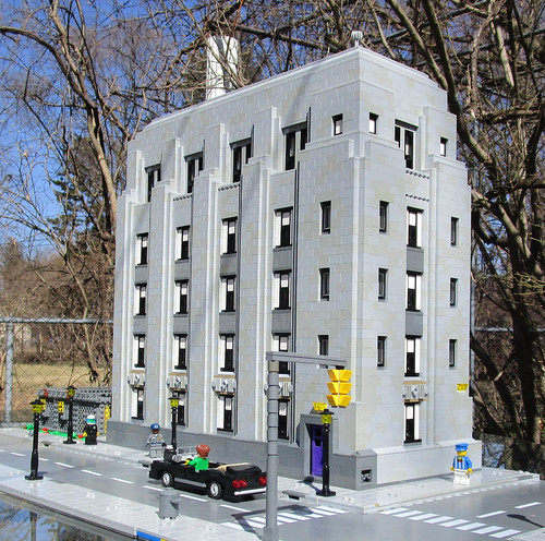 DTE Grand River Substation modeled in LEGO