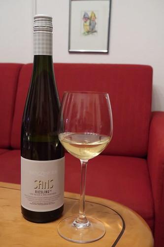 """""""Sans Riesling"""" (Orange Wine aus Riesling-Trauben vom Weingut Benzinger in der Pfalz)"""