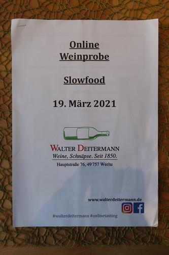 Informationsmaterial zur Online Weinprobe mit dem Wein- und Spirituosenhandel Walter Deitermann