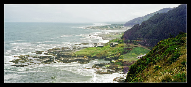 The Majestic Pacific Ocean at Yachats, Oregon - 1982