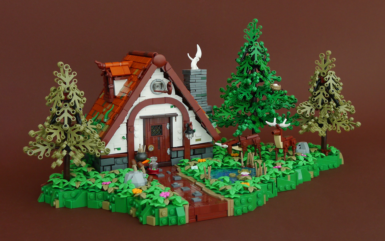 Idyllic forest house