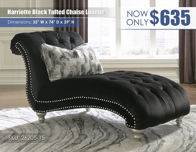 Harriotte Black Tufted Chaise Lounge_26205-15