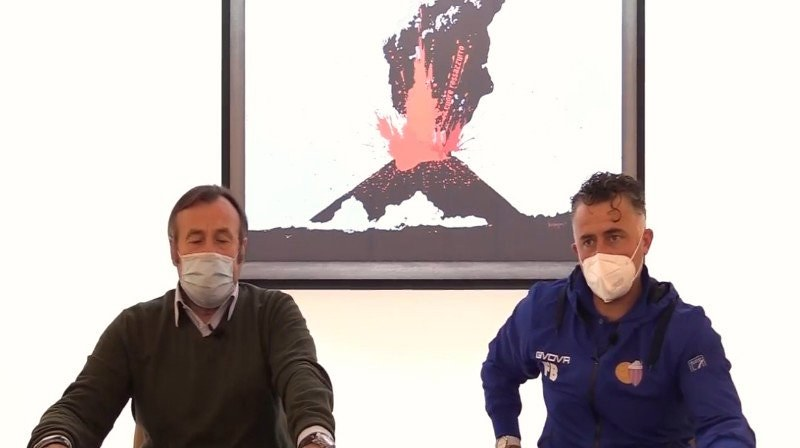 Vincenzo Guerini presenta Francesco Baldini (Foto estrapolata dal video della conferenza stampa)