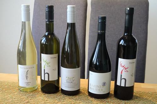 Weinflaschen für die Online Weinprobe