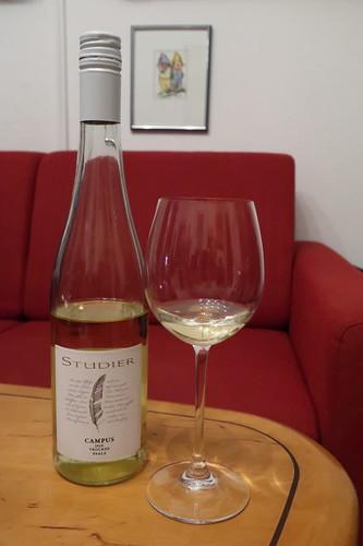 """Bio-Weißwein """"Campus"""" (Cuvée aus Rivaner, Riesling & Weißburgunder vom Weingut Studier in der Pfalz)"""
