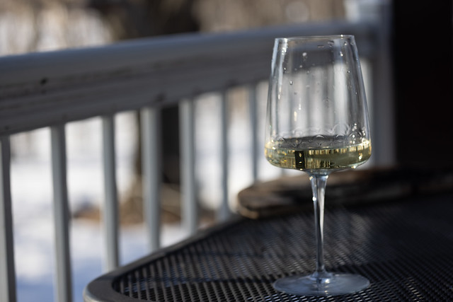 #145 - First glass of wine outside and on the first day of spring