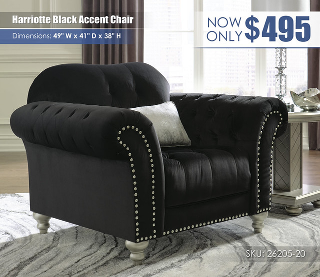 Harriotte Black Accent Chair_26205-20