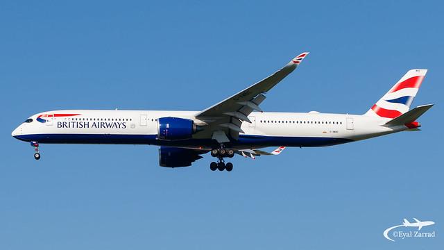 TLV - British Airways Airbus A350-1000 G-XWBC