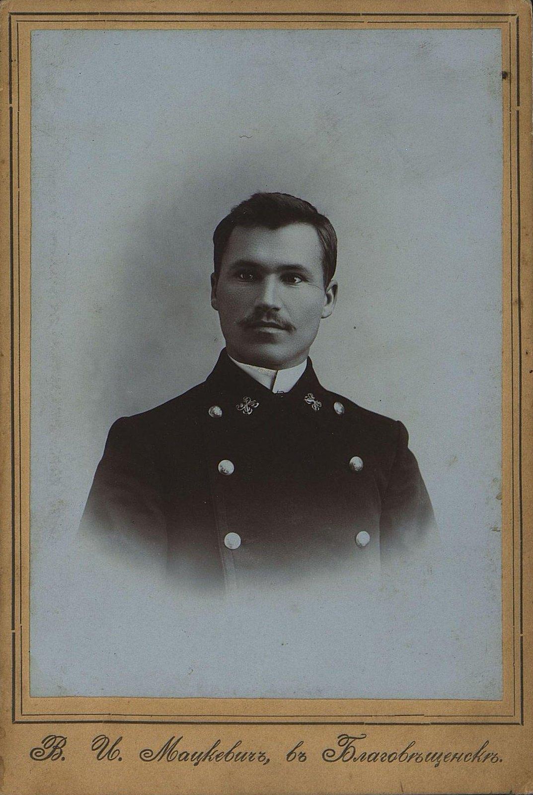 Пажитнев Михаил Дмитриевич, служащий речного флота. 1909