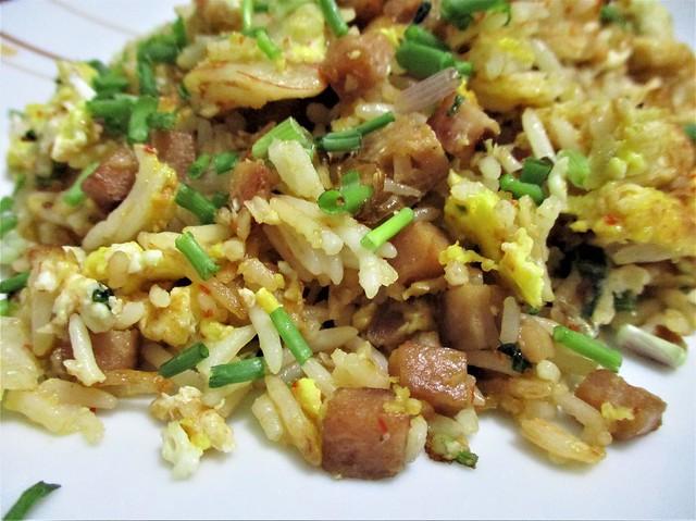 Long-grain basmati rice, fried