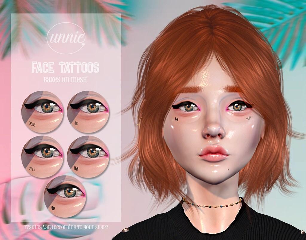 Unnie – Face Tattoos for SoKawaiiSundays!