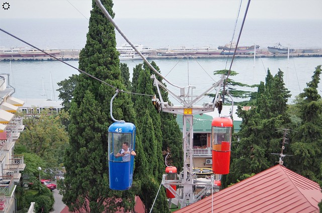 Канатная дорога, Ялта, Крым (Ropeway, Yalta, Crimea)