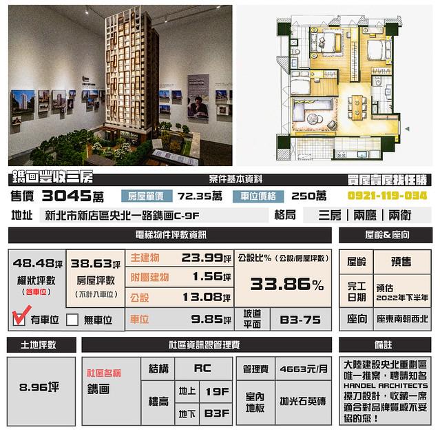 (Sold out)電梯物件推薦- 鐫画豐收三房
