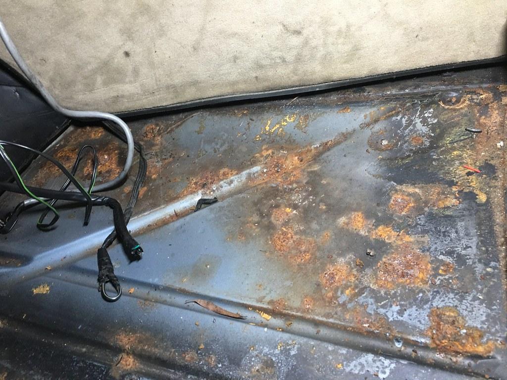 floor surface rust