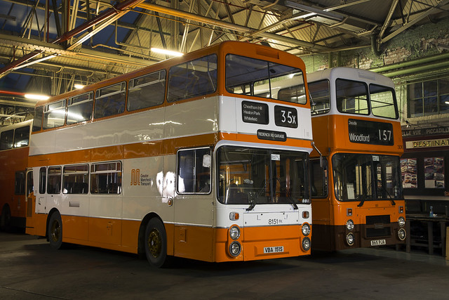 Greater Manchester Transport 8151 and 3065, Museum of Transport, October 2016