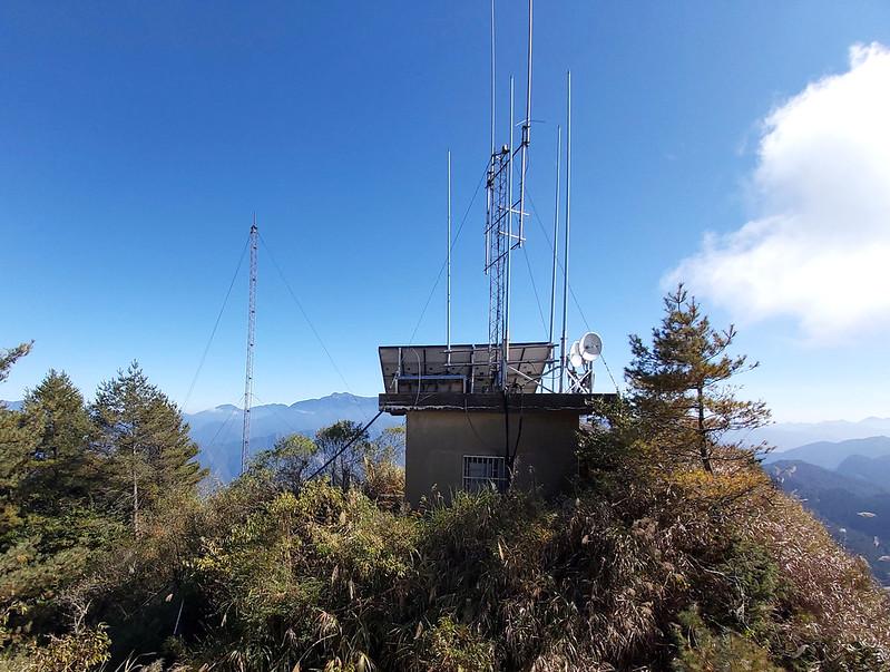 Mt. Data: old transmitter station in Alishan. Mt. Yu range in the back.