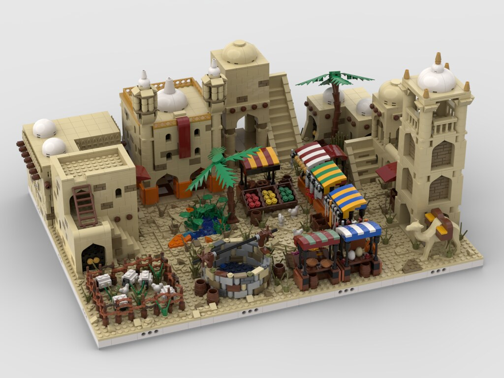 Lego Desert Village   build from 12 different mocs