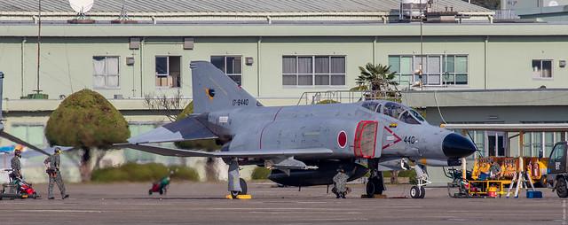 McDonnell Douglas (Mitsubishi) F-4EJ Kai Phantom II 17-8440 JASDF, 301 Hikotai, engine test-run, Hyakuri AB, Japan