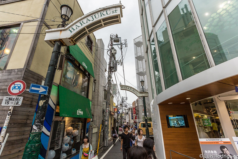 Entrada a Harajuku Street, cercana a la calle Takeshita