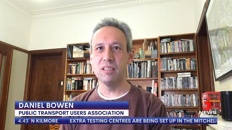 Talking to Channel 7 live from my home office, October 2020
