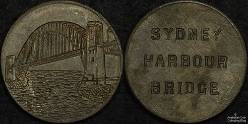 Sydney Harbour Bridge rivet relic medal
