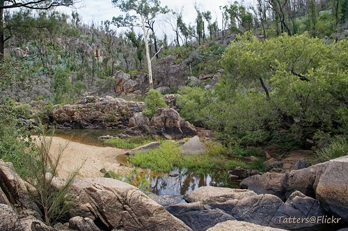 australia queensland crowsnestnationalpark crowsnest creek riverbed rocks