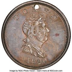 1820 Canada Northwest Company Token obverse
