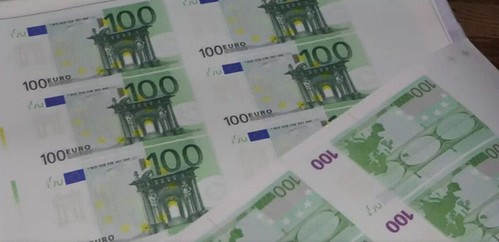 Counterfeit 100 Euro notes seized in Bulgaria