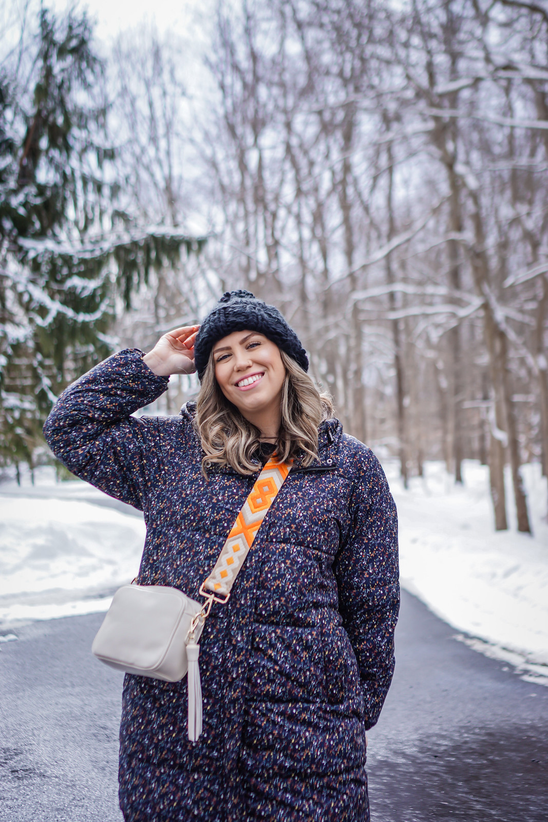 Ahdorned Bags | Winter Outfits Casual | Aesthetic Outfits | Puffer Jacket | Black Beanie | Ahdorned: The Handbag Company You Need to Know About