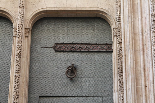 Detalle parte superior puerta de la Lonja