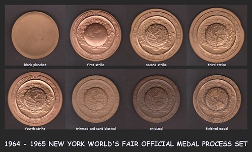 NEW YORK WORLD'S FAIR PROCESS SET OBV UAFQ