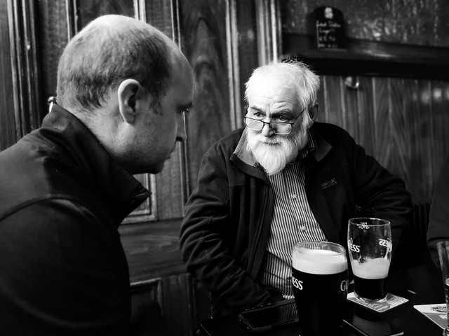 A conversation over pints of Guinness