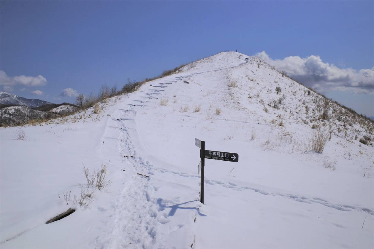 雪の飯盛山