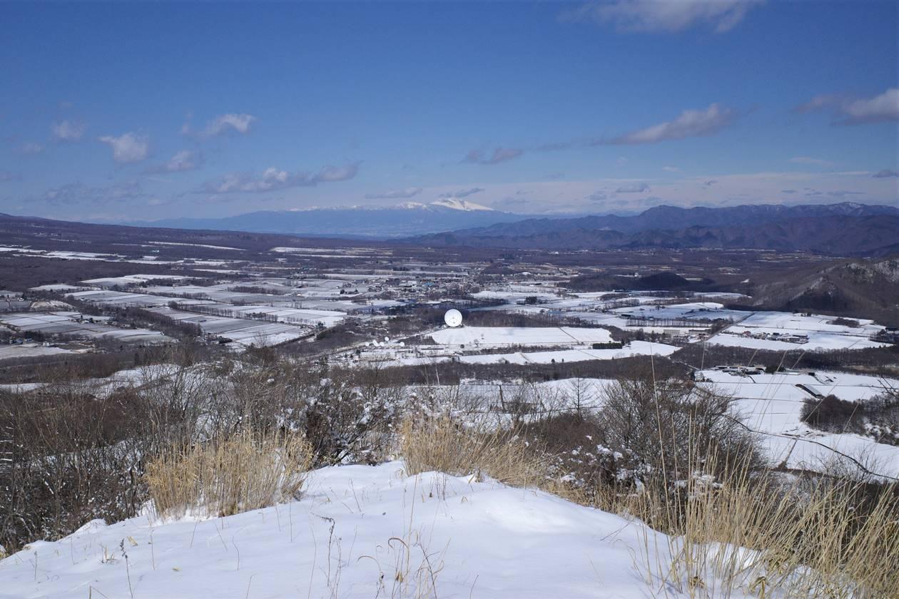 平沢山山頂から眺める浅間山