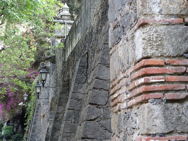 Thick Stone Wall of Classical Building - San Angel - Mexico City - Mexico