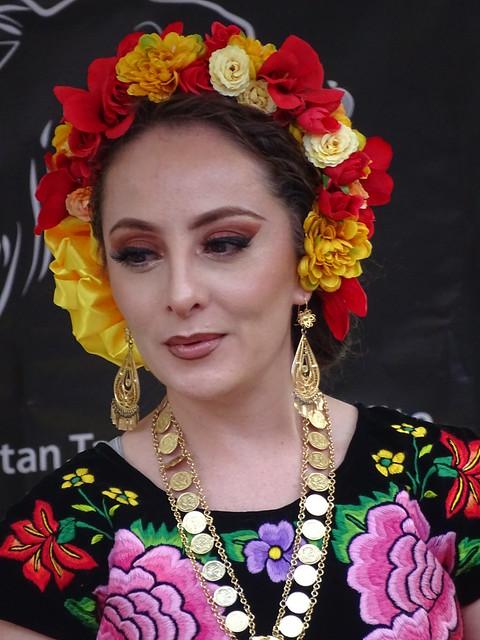 Woman in Oaxaca Dress - San Angel - Mexico City - Mexico