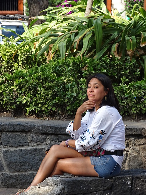 Woman in Plaza - San Angel - Mexico City - Mexico