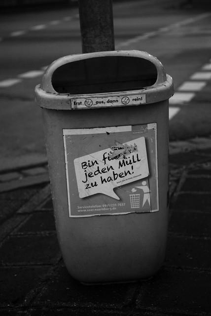 Bin für jeden Müll zu haben