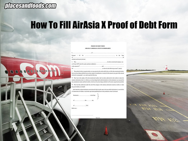 AIRASIA X PROOF OF DEBT FORM