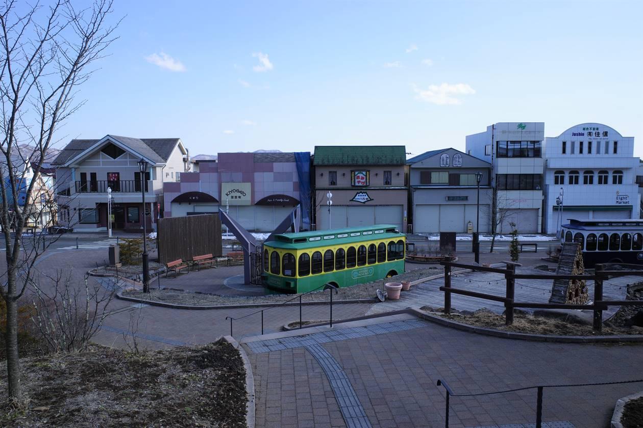 清里駅前のシャッター街