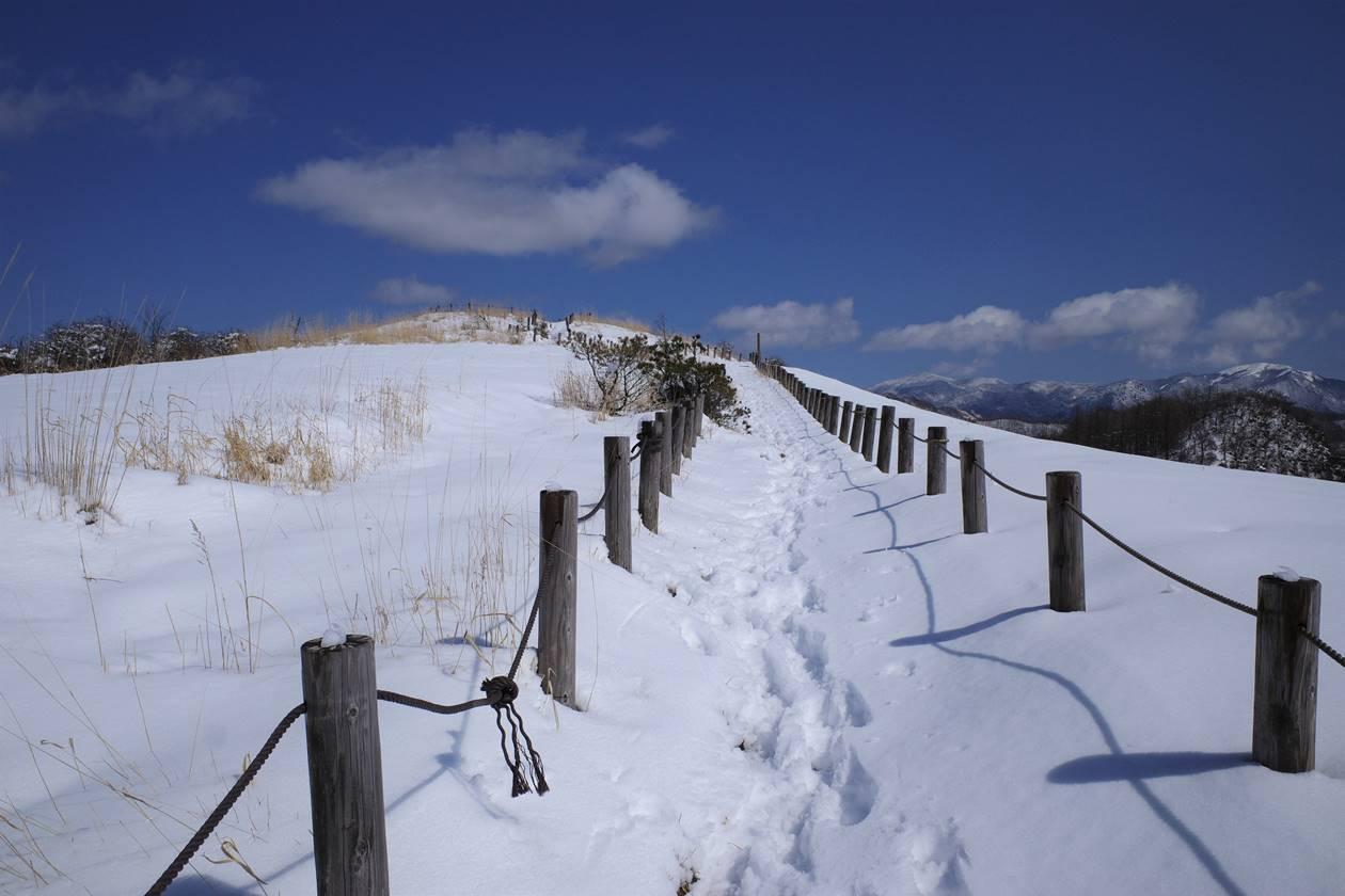 飯盛山 雪の遊歩道