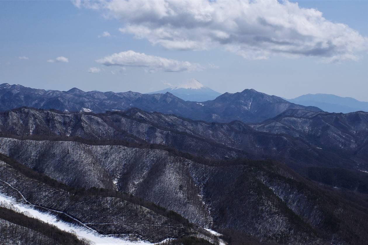 飯盛山から眺める富士山