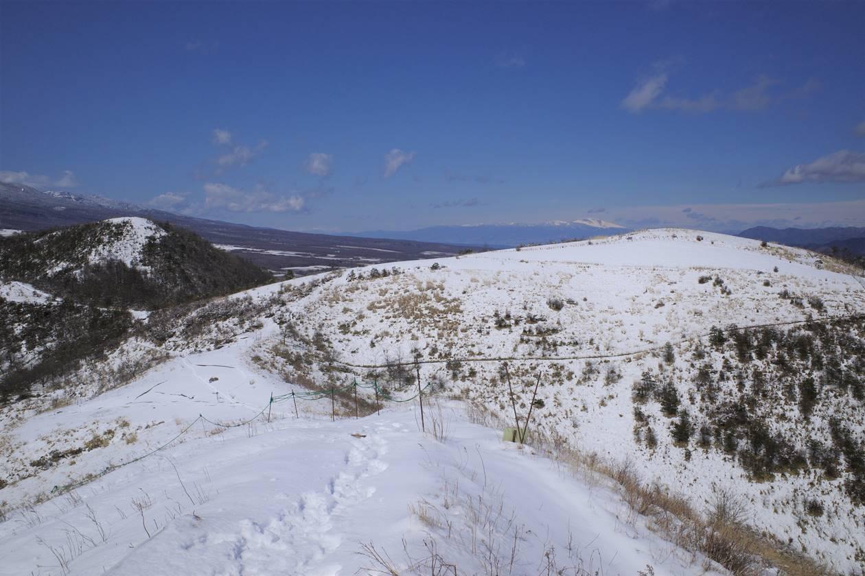飯盛山登山 雪の見晴台