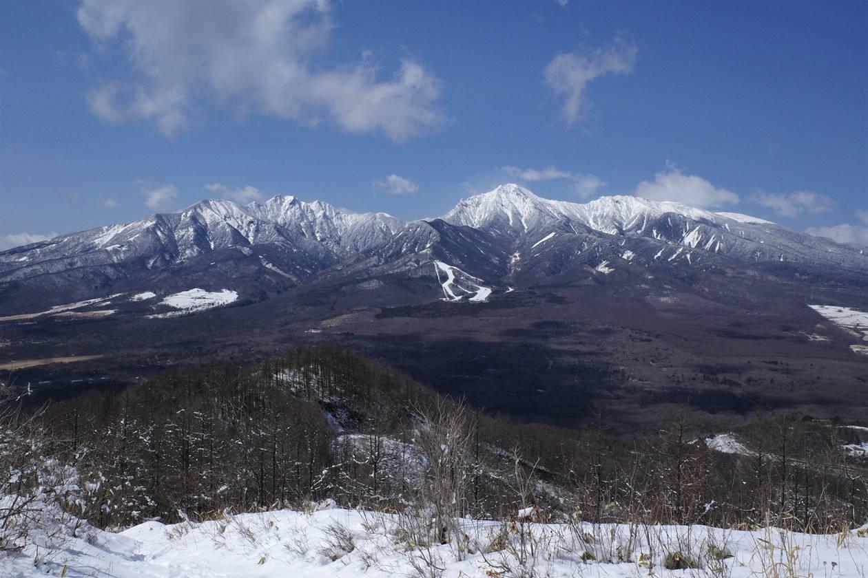 冬の飯盛山登山 八ヶ岳の大展望