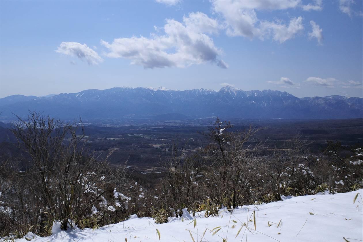 飯盛山~平沢山 登山道から眺める南アルプス