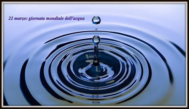 Giornata mondiale dell'acqua.