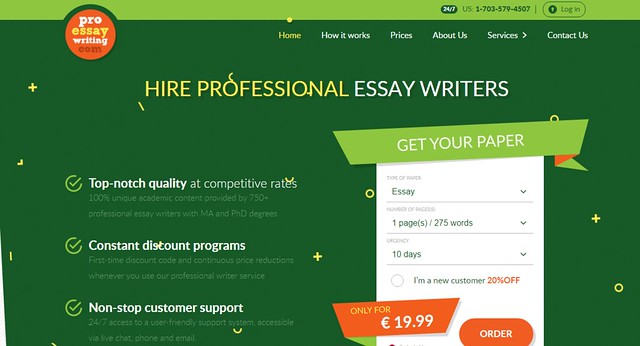 ProEssayWriting main page