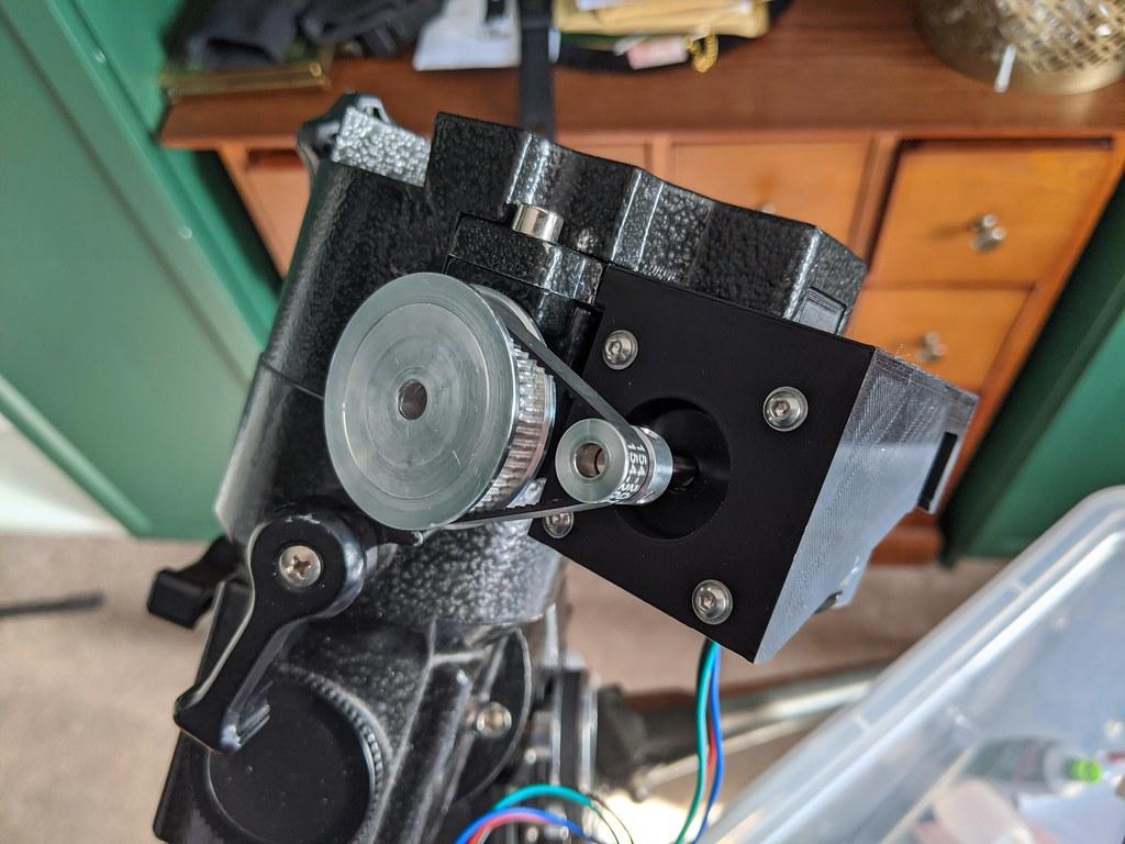 Dec Axis Stepper Motor and Belt Drive