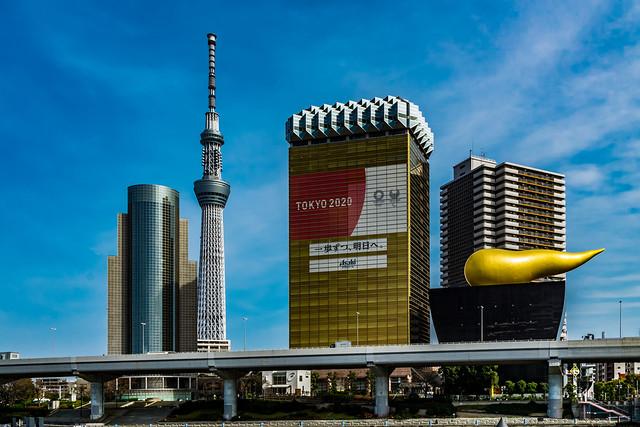 View of skyscrapers in Sumida Ward : 墨田区の超高層ビルを展望