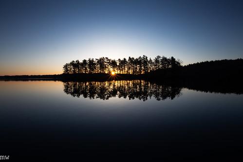 lake nagog sunrise new england massachusetts